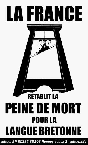 La France rétablit la peine de mort pour la langue bretonne